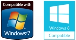 Compatible with Microsoft Windows 7/8